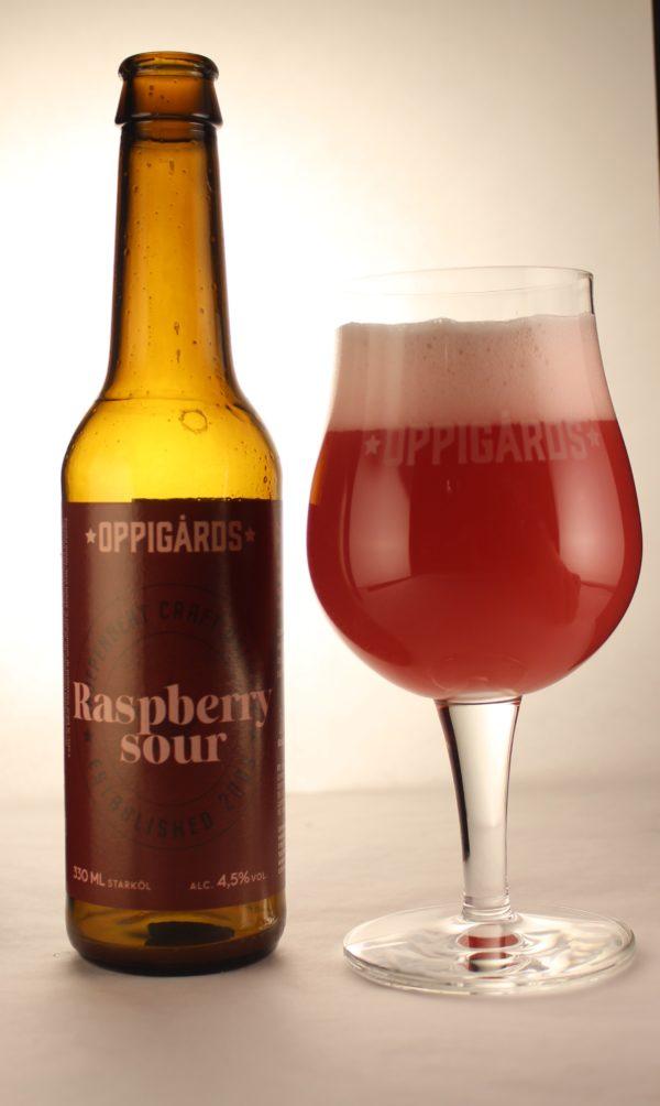 Raspberry i glas